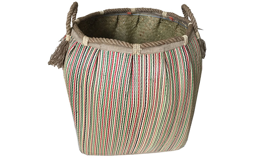 TT-160727 Seagrass laundry basket, pattern color as it is.