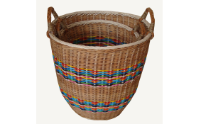 TT-160727/2 Round rattan basket with handles, set 2