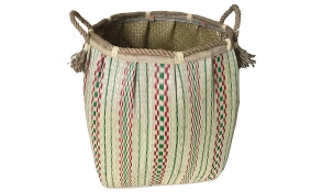 TT-160728 Seagrass laundry basket, pattern color as it is.
