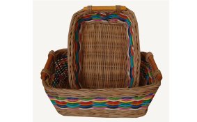TT-160728 Rec. rattan basket, set 2