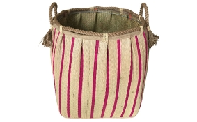 TT-160729 Seagrass laundry basket, pattern color as it is.