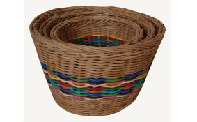TT-160729/3  Rattan basket, natural color, set 3