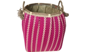 TT-160731 Seagrass laundry basket, pattern color as it is.