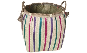TT-160732 Seagrass laundry basket, pattern color as it is.