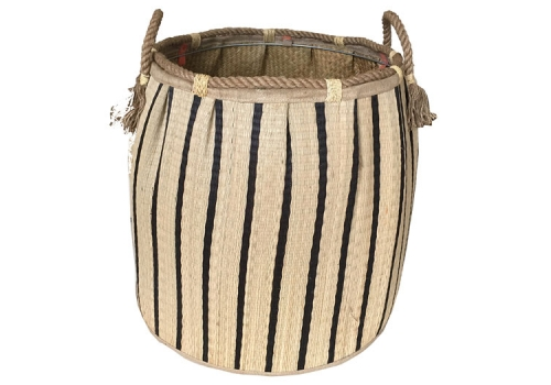 TT-160733 Seagrass laundry basket, pattern color as it is.