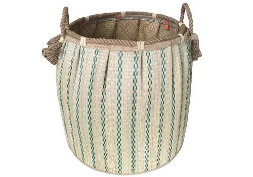 TT-160734 Seagrass laundry basket, pattern color as it is.