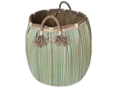 TT-160735 Seagrass laundry basket, pattern color as it is.