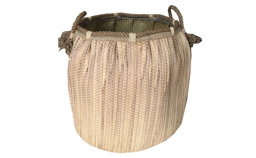 TT-160736 Seagrass laundry basket, pattern color as it is.