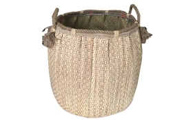 TT-160737 Seagrass laundry basket, pattern color as it is.