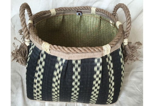 TT-160740 Seagrass basket, pattern color as it is