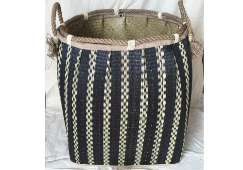 TT-160744 Seagrass laundry basket, pattern color as it is.