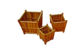 TT-160850/3 Bamboo flower pot, set of 3