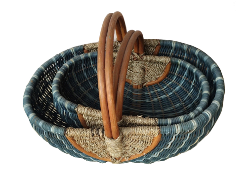 TT-160883/2 Rattan picnic basket, set of 2
