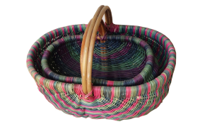 TT-160885/2 Rattan picnic basket, set of 2