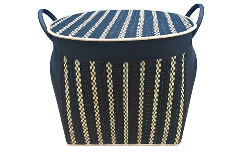 TT-160897 Bamboo laundry basket with lid