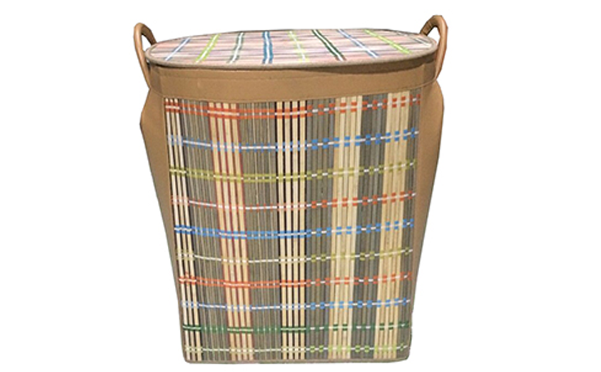 TT-160898 Bamboo laundry basket with lid