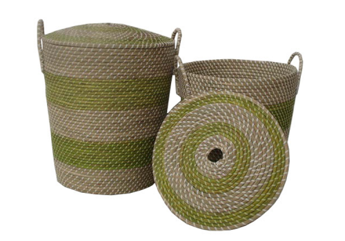 TT-18493/2 Seagras basket with lid, set of 2