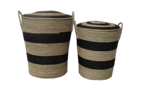 TT-18494/2 Seagras basket with lid, set of 2
