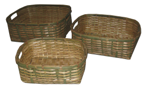 TT-201406/3 Bamboo basket, set of 3