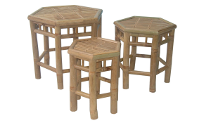 TT-BB 11428 Bamboo stool, set of 3