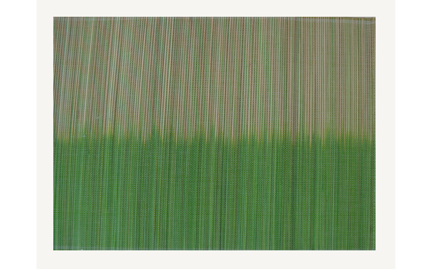 TT-O 161016 Bamboo place mat, pattern color as it is. 40 x 30 Cm