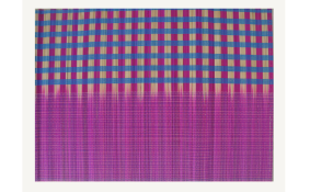 TT-O 161022 Bamboo place mat, pattern color as it is. 40 x 30 Cm