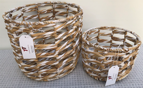TT-190136/2 Water hyacinth basket, set 2.