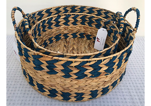 TT-190141/2 Water hyacinth basket, set 2.