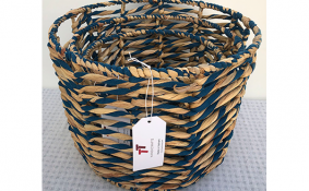 TT-190142/3  Water hyacinth basket, set 3.