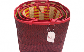 TT-190131/3 Seagrass basket, color as it is, set 3.
