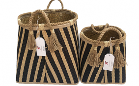 TT-190132/2 Seagrass basket, set 2.