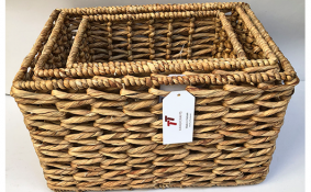 TT-190165/3 Water hyacinth basket, set 3.
