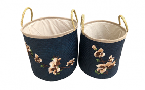 TT-190193/2 Palm leaf basket, color as it is, set 2.