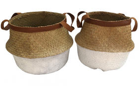 TT-190170/2 Palm leaf basket, set 2