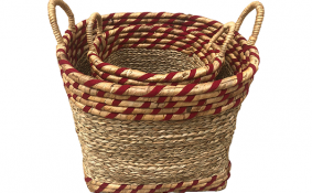 TT-190179/2 Seagrass + fibric basket, set 2