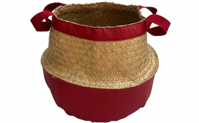 TT-190174 Palm leaf basket.