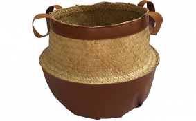 TT-190175 Palm leaf basket.