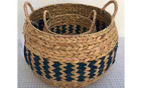 TT-190138/2 Round water hyacinth basket, set 2