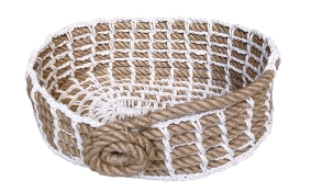 TT-190704 Oval rope basket.