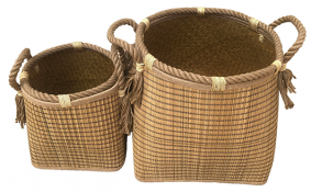 TT-190184/2 Seagrass basket, set 2.