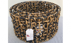 TT-190140/3 Water hyacinth basket, set 3.