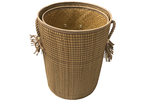 TT-190185/2 Seagrass basket, natural color, set 2.