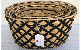 TT-190144/3 Water hyacinth basket, set 3.