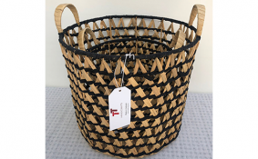 TT-190145/2 Water hyacinth basket, set 2.